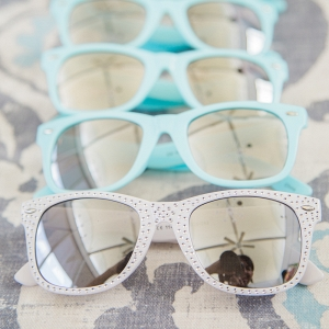White and blue bride and bridesmaid sunglasses