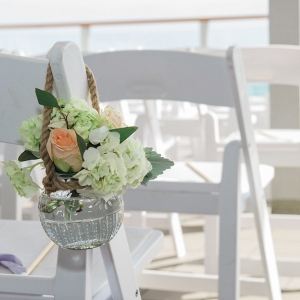 Beach Wedding Hanging Chair Floral Decor