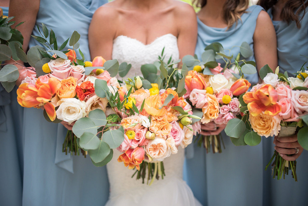 Vibrant Colorful Bridal Bouquet