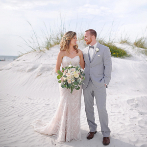 Bride and Groom Portraits - Beach Wedding