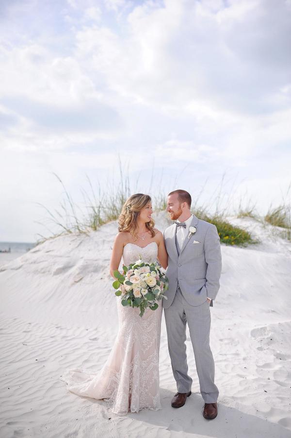 Bride and Groom Portraits - Beach Wedding