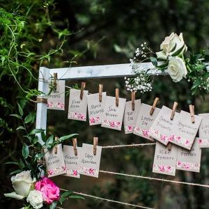 Garden Wedding Escort Cards