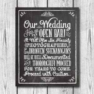Funny Wedding Bar Sign