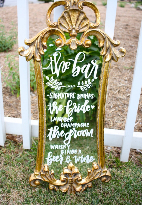 Vintage Mirror Bar Sign
