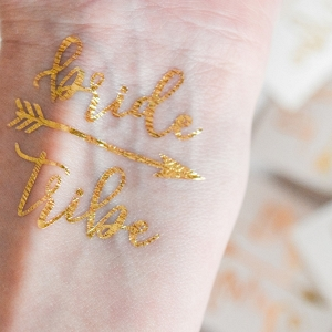 Gold Bride Tribe Temporary Tattoos