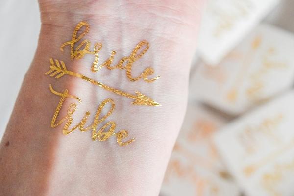 Gold Bride Tribe Temporary Tattoos