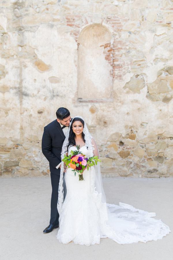 Vibrant Colorful Bridal Bouquet