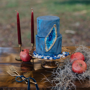 Jewel Blue Wedding Cake