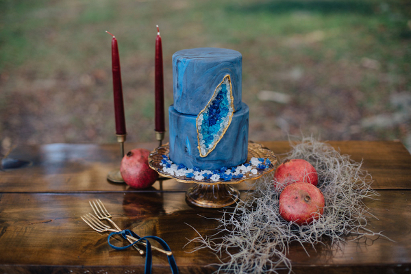 Jewel Blue Wedding Cake