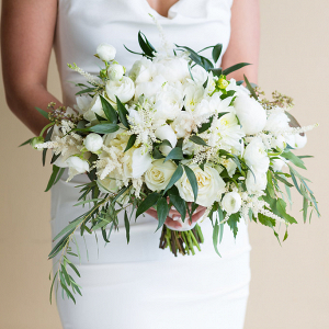 White + Greenery Wedding Bouquet