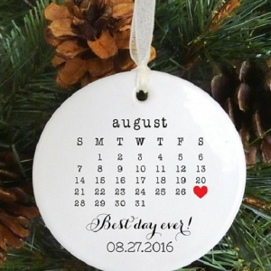 Newlywed + Newly Engaged Christmas Ornaments