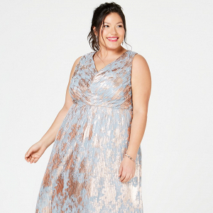 Rose Gold and Blue Plus Size Dress