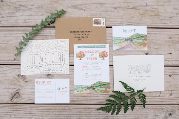 Farm Watercolor Invitation Suite