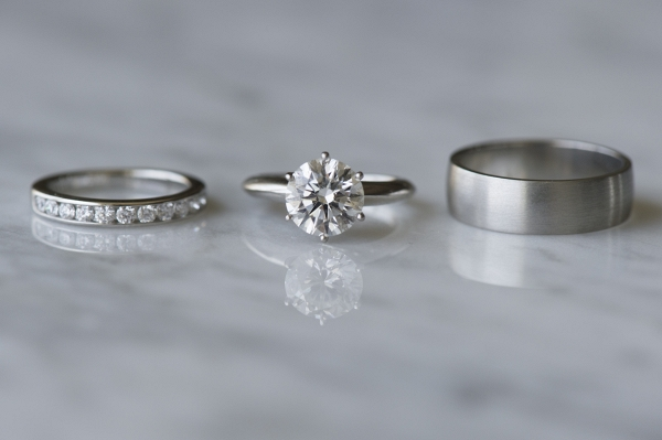 Silver Solitarie Engagement Ring Set