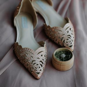Rose Gold Wedding Flats