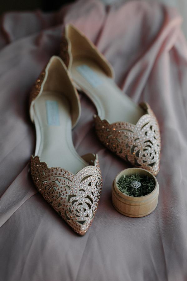 Rose Gold Wedding Flats