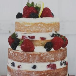 rustic+wedding+naked+cake