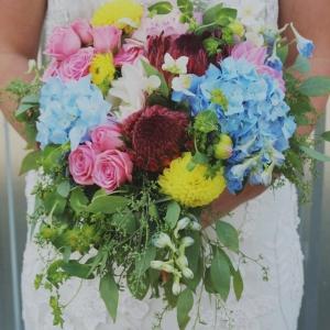 rustic+bridal+bouquet