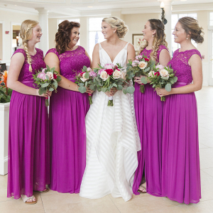 Fuscia Bridesmaid Dresses