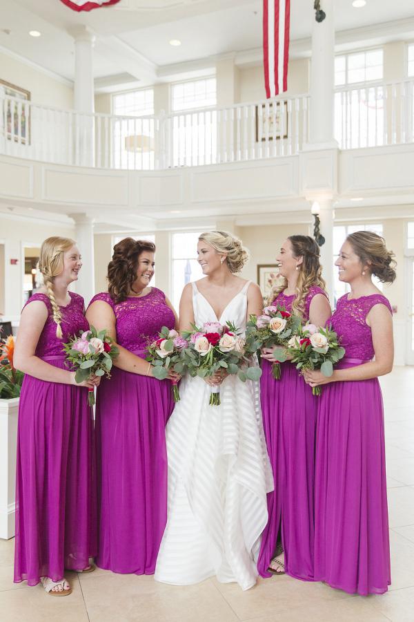 Fuscia Bridesmaid Dresses