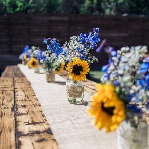 rustic+wedding+decor+ideas+sunflower