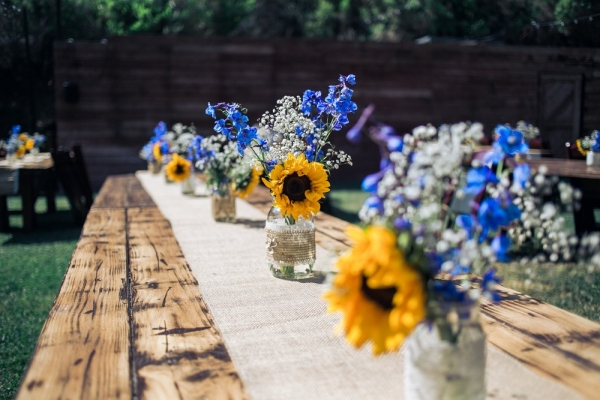 A rustic diy 1909 topanga wedding aisle society rusticweddingdecorideassunflower junglespirit Image collections