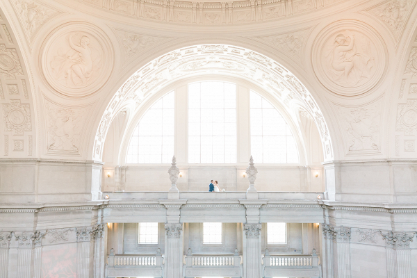 San Francisco City Hall Wedding Bride + Groom PortraitSan Francisco City Hall Wedding Bride + Groom Portrait