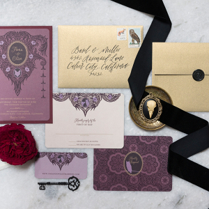 Moody Vintage-Inspired Invitation Suite