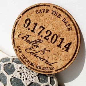 Cork Coaster Save-the-Date