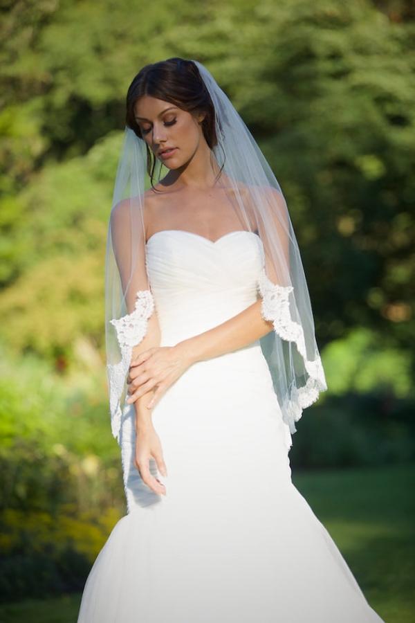 Long Lace Rimmed Veil