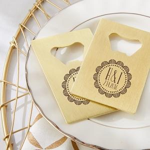 Gold Credit Card Bottle Opener Wedding Favors