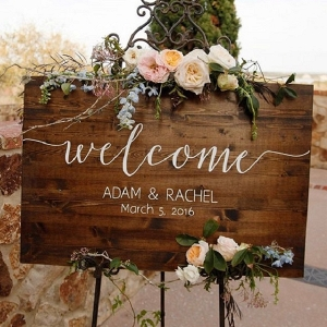 Custom Wooden Wedding Welcome Sign