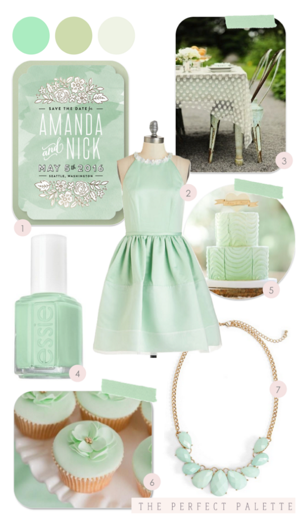 7 Ideas for a Fun and Fabulous Mint Wedding