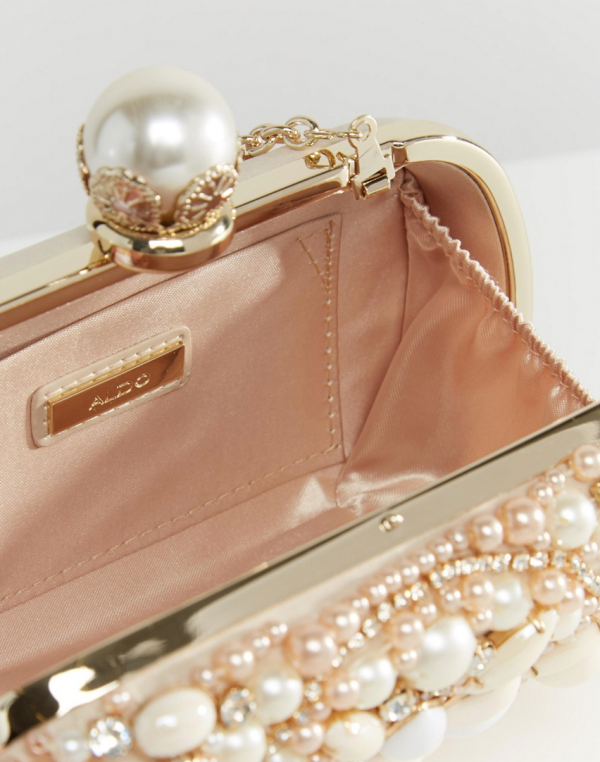 Beaded Box Clutch With Pearl Clutch Bag