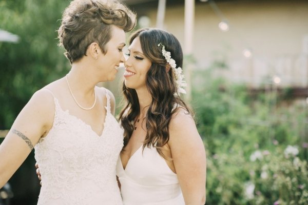 A Beautiful Bohemian Backyard Wedding