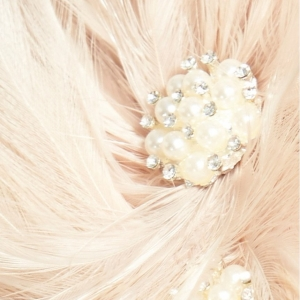Blush Feather Fascinator