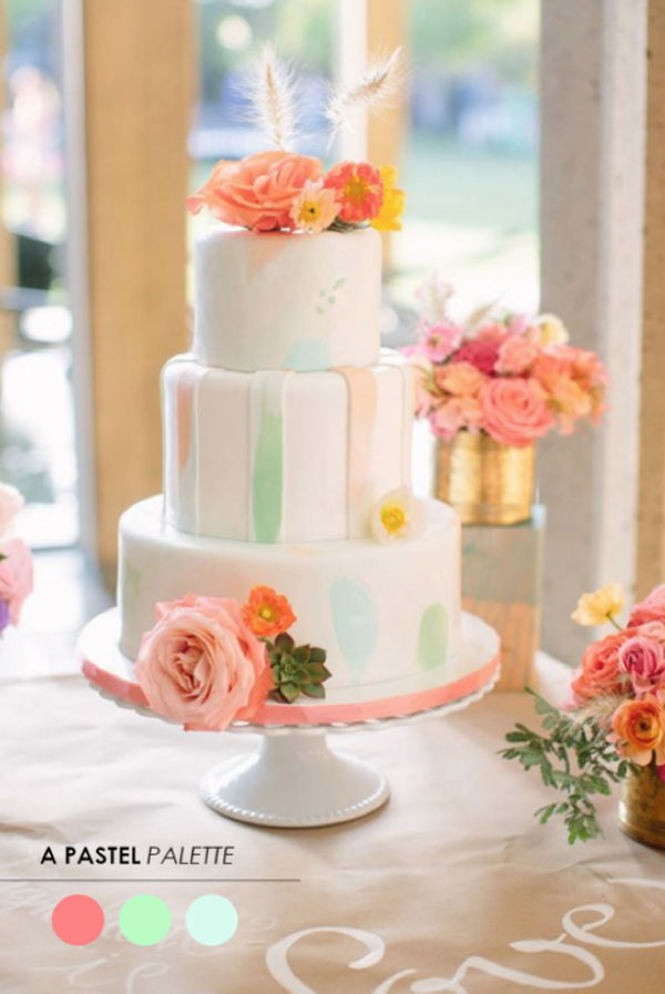 9 Color Inspiring Wedding Cakes You'll Love