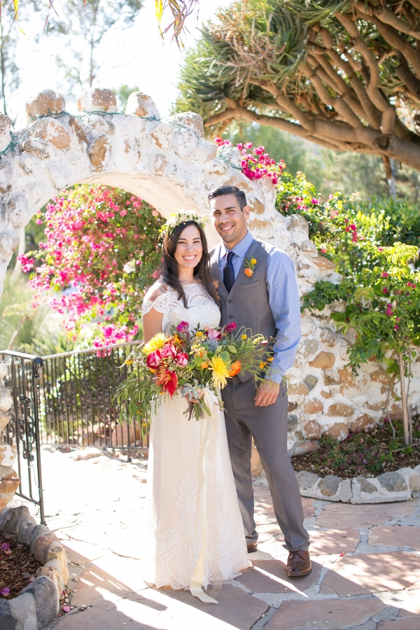 Colorful Chic Ranch Wedding in Carlsbad, CA