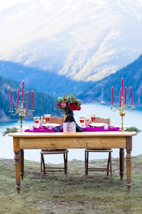 Gorgeous Lake Diablo Wedding Table Design
