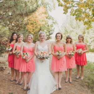 Coral Wedding Ideas with Ombré Details