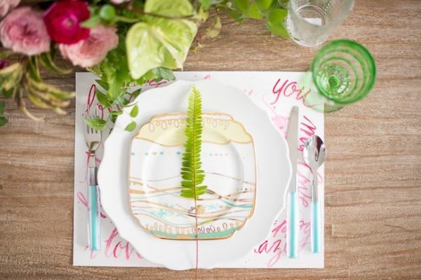 Creative place setting by Pop the Cork Designs