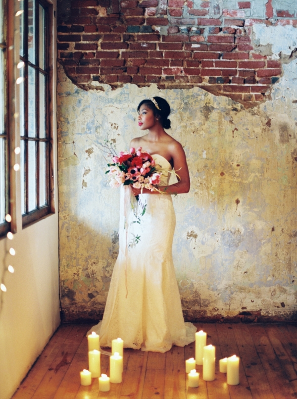 Dreamy Bridals with a Mix of Moody + Warm Colors