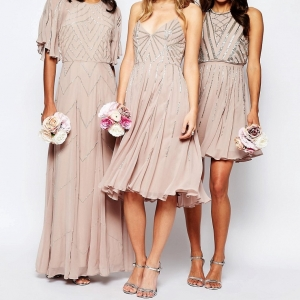 Embellished Chiffon Bridesmaid Dresses