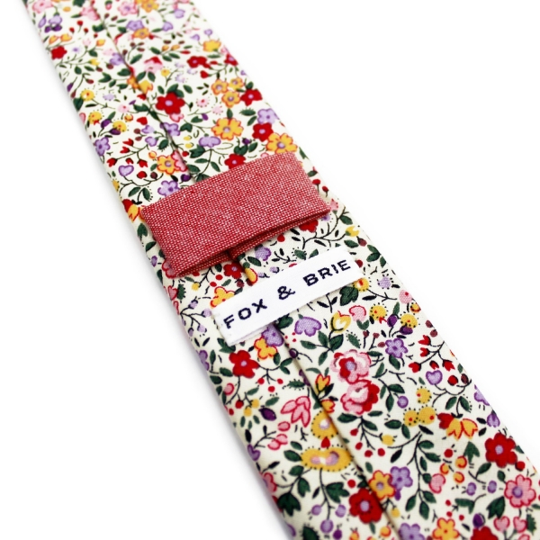 Floral Print Tie by Fox & Brie