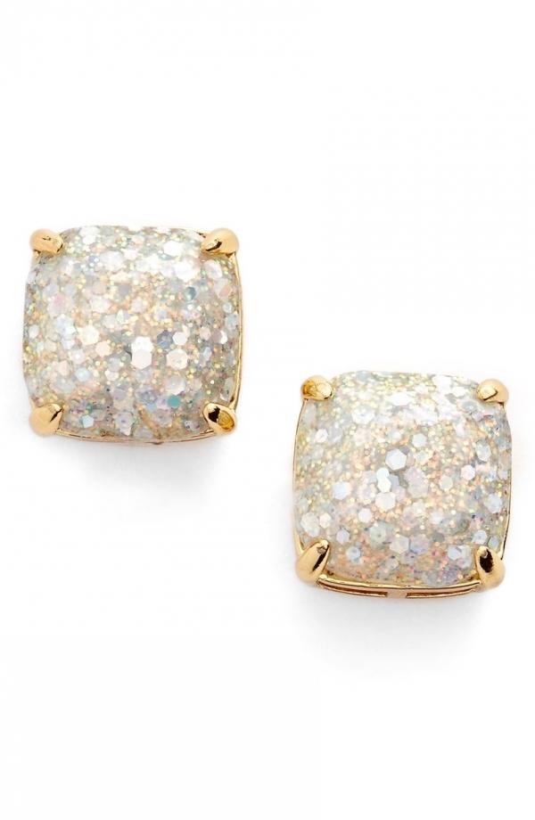 Glitter Stud Earrings from Kate Spade