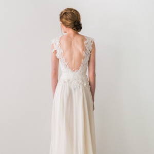 Lace and Chiffon Wedding Dress