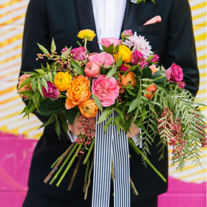 Modern + Colorful Cityscape Inspired Styled Shoot