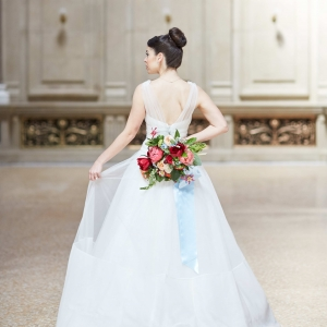 Gorgeous Amsale Gown with photography by Whyman Studios