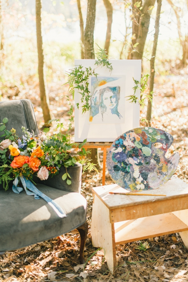 Painterly Inspired Wedding Editorial