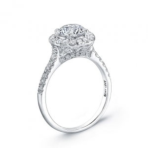 Pavé Diamond Leaf Engagement Ring Setting